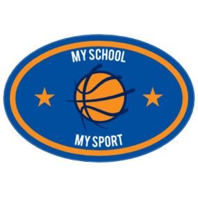 Custom Text Oval with Stars Basketball Sticker