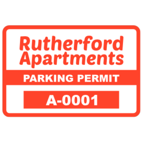 Parking Permit Rectangle 2