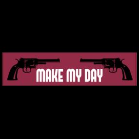 Make My Day Customizable Bumper Sticker