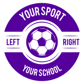 Custom Text Screw Top Circle Soccer Sticker