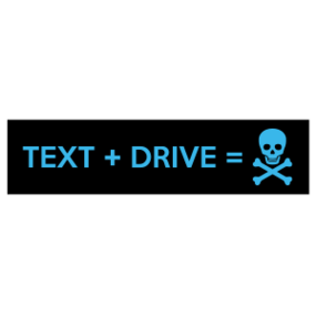 Text + Drive Customizable Bumper Sticker