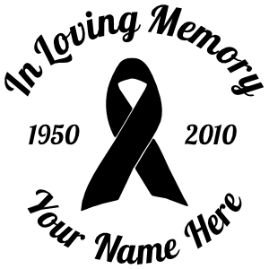 In Loving Memory Ribbon Sticker