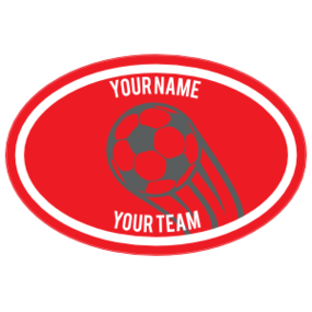 Custom Shooting Up Soccer Ball Oval Sticker
