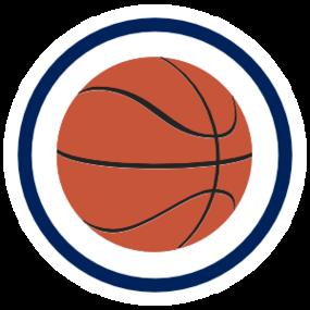 Custom Printed Basketball Circle Sticker