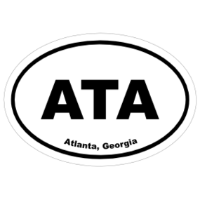 Atlanta, Georgia Oval Stickers