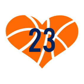 Custom Heart Basketball with Your Number