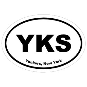 Yonkers, New York Oval Stickers