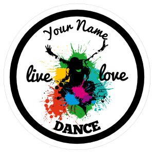 Custom Live Love Dance Circle Sticker