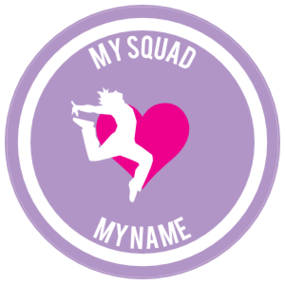 Custom Landing Dancer with Heart Circle Sticker