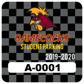 Checker Board Square Parking Permit Sticker