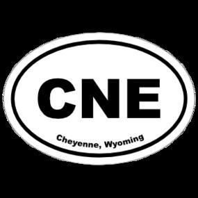 Cheyenne, Wyoming Oval Stickers