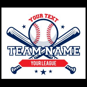 Custom Baseball Emblem with Crossed Bats