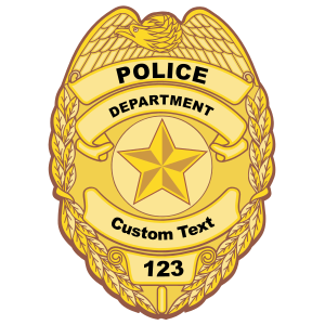 Custom Police Badge Magnet