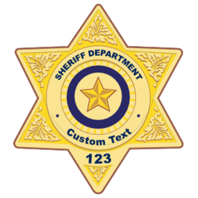 Custom Sheriff Badge Magnet
