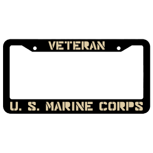 Veteran United States Marine Corps License Plate Frame