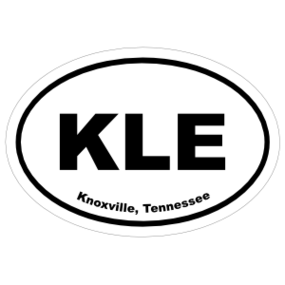 Knoxville, Tennessee Oval Stickers