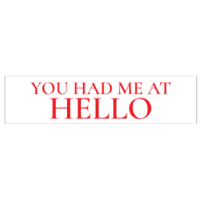 Hello Customizable Bumper Sticker