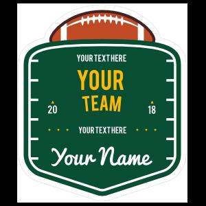 Custom Football Field Badge