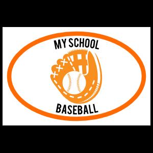 Custom Baseball Mitt Oval Magnet