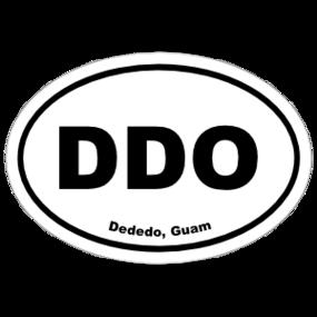 Dededo, Guam Oval Stickers