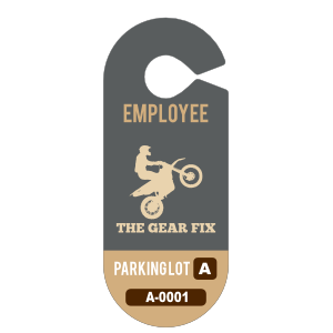 Oval Employee Hang Tag Parking Permit