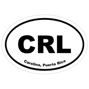 Carolina, Puerto Rico Oval Stickers
