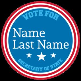 Custom Campaign Circle Sticker