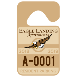 Apartment Resident Hang Tag Parking Permit
