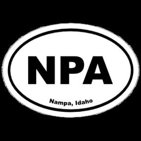 Nampa, Idaho Oval Stickers