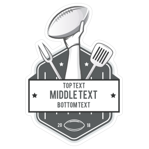 Custom Football and Barbecue Sticker