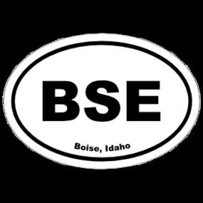 Boise, Idaho Oval Stickers