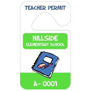 Rectangle Teacher Hang Tag Parking Permit