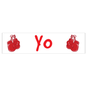 Yo Customizable Bumper Sticker