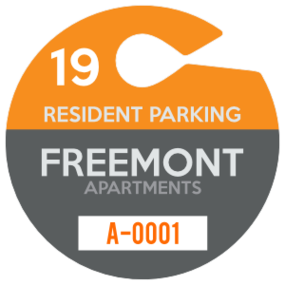 Large Circle Apartment Hang Tag Parking Permit