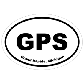 Grand Rapids, Michigan Oval Stickers