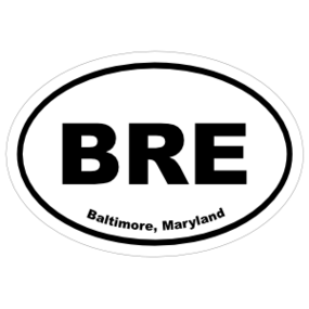 Baltimore, Maryland Oval Stickers
