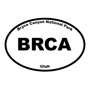 Bryce Canonyon National Park Oval Sticker