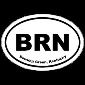 Bowling Green, Kentucky Oval Stickers