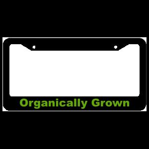 Organically Grown License Plate Frame