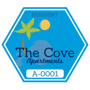 Hexagon Apartment Parking Permit Sticker