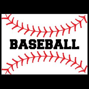 Custom Baseball Seams with Text