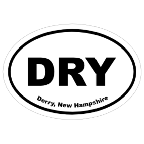 Derry, New Hampshire Oval Stickers