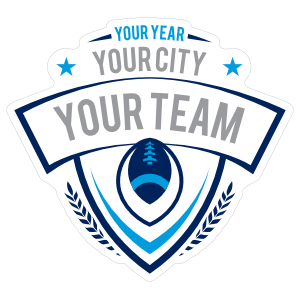 Custom Team Football Patch Sticker with Your Text