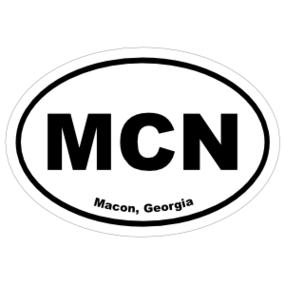 Macon, Georgia Oval Stickers