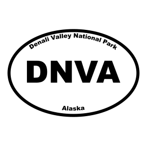 Denali Valley National Park Oval Sticker