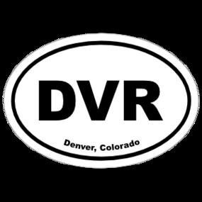 Denver, Colorado Oval Stickers