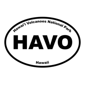 Hawai'i Volcanoes National Park Oval Sticker