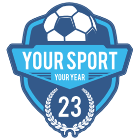 Custom Soccer Badge with Number