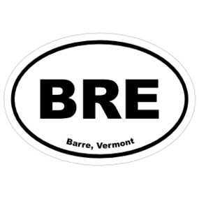 Barre, Vermont Oval Stickers