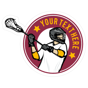 Custom Lacrosse Circle Sticker